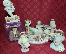 Lot of 6 Christmas/Cherub Candle Base Dreamsicles Figurines,  2 Signed 1999