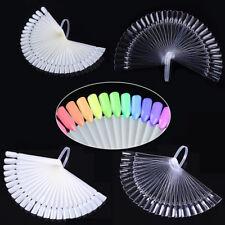 False Nail Tips Color Card Fan Transparent White Design Practice Display Tool