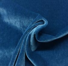 "KRAVET PLUSH MOHAIR POLO BLUE WOOL VELVET FURNITURE DRAPERY FABRIC BTY 55""W"
