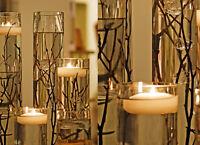 3 Inch Large LED Waxed Floating Candle Flameless Floating Candle Warm White 2pcs