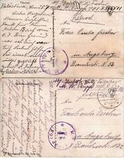 1918 Germany Military in Turkey Feldpost 511 Trupp 703 - 2 Color Postcards