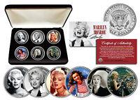 MARILYN MONROE *Glamorous Portraits* JFK Half Dollar US 6-Coin Set w/Display Box