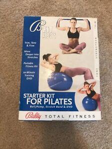 NEW Bally Yoga Ball 65cm Pilates Kit Sculpting Toning DVD Power Band Mom Xmas