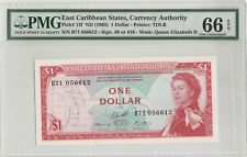 1965 East Caribbean States One Dollar  PMG 66 Gem-Uncirculated EPQ
