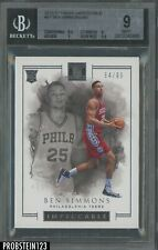 2016-17 Panini Impeccable Ben Simmons 76ers RC Rookie 64/99 BGS 9 w/ 9.5