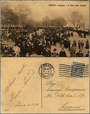Firenze, cascine, viale della Regina, animata, viaggiata 1914