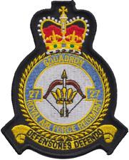 Numéro 27 escadron Régiment de RAF Royal Air Force mod écusson patch brodé