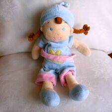 Doudou Poupée Mots d'enfants - Bonnet Bleu