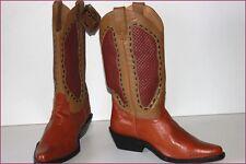 AGABE Santiags Western Boots Tout Cuir T 37 ETAT NEUF
