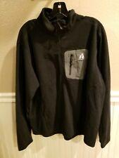 Eddie Bauer First Ascent Fleece 1/2 Zip Pullover Size XL Mens Black Long Sleeve