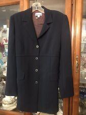 $78 Navy Blazer Jacket Mimi Maternity Small Classic Career NWT