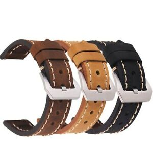 Extra Long Men's Genuine Leather Watch Strap Band Quality Accessories 20mm-24mm✅