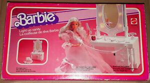 Vintage 1982 Mattel Barbie Dream House Furniture LIGHT UP VANITY Boxed
