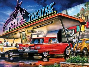 Jigsaw Puzzle Vehicle Starlite Drive in Theatre 1958 Thunderbird 550 pieces NEW