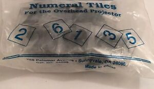 Numeral Tiles 0-9 for Overhead Projector - Creative Publications Math - Clear