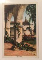 """The Chapel"" MISSION SAN JUAN CAPISTRANO CA vintage white-border postcard"