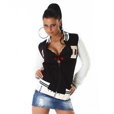 NEW SEXY FUNKY DIVA COLLEGE BASEBALL JACKET COAT 10 - 12  ❤ NAVY ❤ GLOSSI