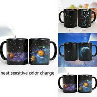 Star Galaxy Pattern Ceramic Coffee Mug Heat Sensitive Color Change Water Cup