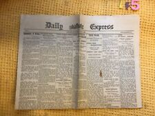 More details for vintage rare daily express  paper april 24th 1900 , vgc