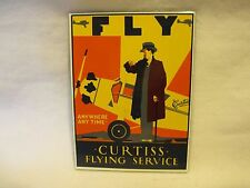 FLYING SERVICE ADVERTISING SIGN PORCELAIN ENAMEL STEEL 1987 MINT CONDITION
