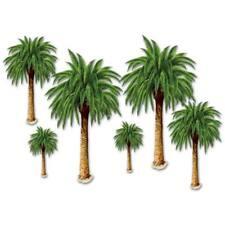 Luau Palm Tree Props Backdrop Acc.