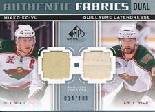 2011/12 SP Game Used Mikko Koivu Guillaume Latendresse Authentic Fabrics Dual
