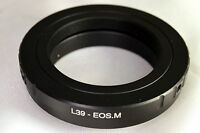 Leica LTM M39 screw mount lens adapter for Canon EOS EF-M Mirrorless cameras M10
