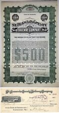 New listing St. Francois County Railway Company. Missouri - Bond + Check set!