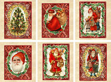Vintage inspired Christmas tea bag envelope party favors gift Santa set of 6