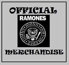 official THE RAMONES merchandise SEW ON PATCH sweatband RUBBER WRISTBAND box mug