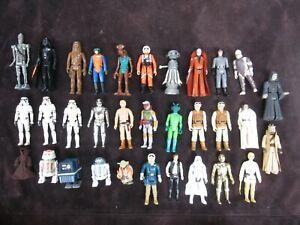 "Star Wars Figures Vintage of 32 Lot inc First 12 Kenner 1978 w/ Case 3.75"" inch"