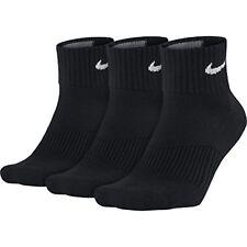 Nike Cushion Quarter paires de Chaussettes Noir/blanc FR M (taille F