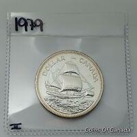 1979 Canada Silver Dollar UNCIRCULATED Specimen Coin Griffon Ship #coinsofcanada