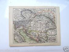 1895ca MONARCHIA AUSTRO-UNGARICA MONARCHY HOEPLI INCISIONE ENGRAVING D39