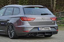 Heckansatz Heckeinsatz Diffusor Heckeinsatz aus ABS Seat Leon 5F ST FR Facelift