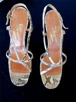 VINTAGE 1970'S ROSINA FERRAGAMO SCHIQVONE SNAKESKIN  HIGH HEEL SHOES SIZE 6 1/2