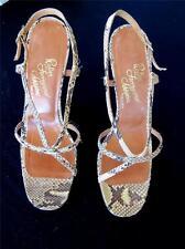Vintage 1970'S Rosina Ferragamo Schiqvone Serpent Talon Haut Chaussures Taille
