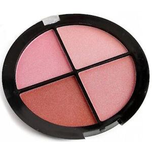 Technic Mega Blush Palette - Quad Pink Blusher Face Cheeks Contour Shimmer Light