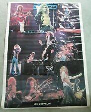 """Original Vintage 1978 Led Zeppelin large collage poster 42"""" x 58"""" - Robert Plant"""
