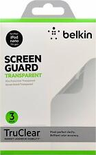 Belkin Screen Overlay (geeignet für Apple iPod Nano 7G, 3-er Pack) klar