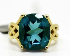 GENUINE 8.33 Cts BLUE ZIRCON RING 10k GOLD* FREE APPRAISAL *NWT * 9.26 Grams