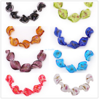 Flower Leaf Glass Lampwork Loose Spacer Beads Jewelry Making Bead Findings 20mm