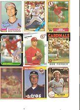 18 CARD BOB FORSCH BASEBALL CARD LOT       89