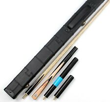 Free Shipping Ebony Maple 3/4 Snooker Pool Weichster Handmade Cue Case Extension