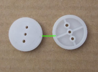 10pcs 132A pulley 13mm Plastic pulleys For 2mm spindle motor