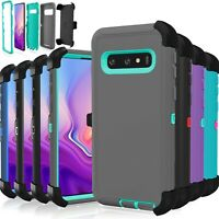 Samsung Galaxy S10 / S10 Plus / S10E Case Shockproof Hybrid (fits Otterbox Clip)