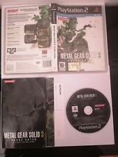 METAL GEAR SOLID 3 SNAKE EATER PS2 PLAYSTATION 2 PAL ITA COMPLETO. PRIMA STAMPA