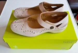 Ladies Hotter Flamenco Comfort Concept Leather Mary Jane Shoes Size 6.5