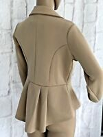 Missi London Womens Evening Jacket 14 & 16 Slim Beige Light Bolero Party NEW