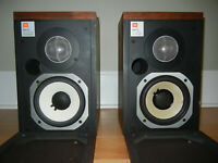 JBL L15 SPEAKERS Monitors - Beautiful Walnut Wood Veneer Pair